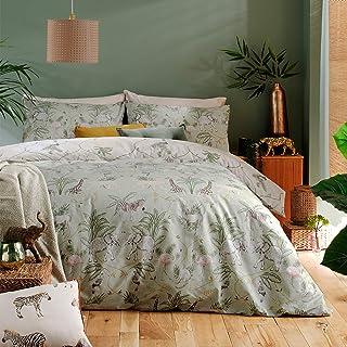 furn. Serengeti Duvet Cover and Pillowcase Set, Sage, Double