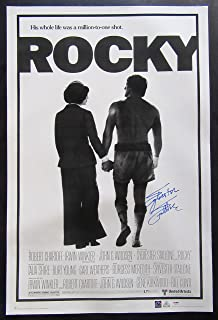 Sylvester Stallone Autographed Rocky Movie Poster - PSA/DNA COA