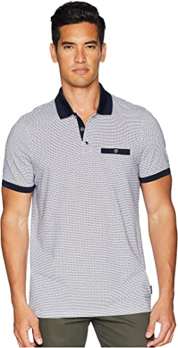 Ted Baker Sloughi Short Sleeve Geo Print Polo