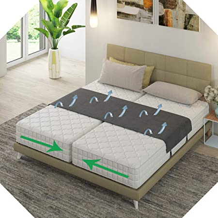 Bedbinder Deluxe – Puente Amoroso para colchones Universal, cuña para colchón Que UNE Dos colchones para una Gran Superficie de Descanso y Acaba el ...
