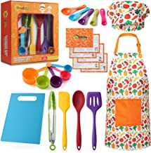 RISEBRITE Real Kids Cooking Set for Girls and Boys – 22 Pcs Gift Set Includes Kids..