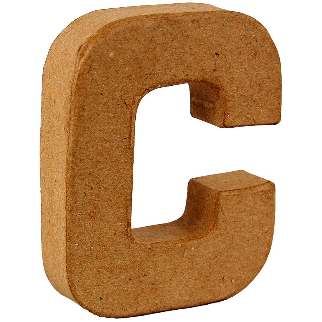Country Love Crafts 4-inch/ 10cm 3D Letter C Papier Mache by Country Love Crafts Papier Mache