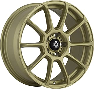 Konig RUNLITE Gold Wheel with Painted Finish (16 x 7.5 inches /5 x 100 mm, 45 mm Offset)
