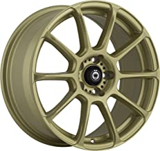 Konig RUNLITE Gold Wheel with Painted Finish (18 x 8. inches /5 x 100 mm, 35 mm Offset)