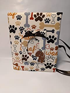 Custom Puppy Photo Album, Dog Photo Album, Holds 100 4x6 Photos - Handmade, Puppy Fabric Photo Album