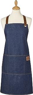 Cooksmart Oxford Apron, Cotton, Indigo, 70 x 80 cm