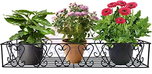 D&V ENGINEERING - Creative in innovation Metal Railings Pot Stand/Flower Plant Display Stand for Multiple Plants Gard...