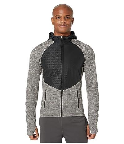 Craft Charge Full Zip Sweat Hood Jacket (Dark Grey Melange) Men