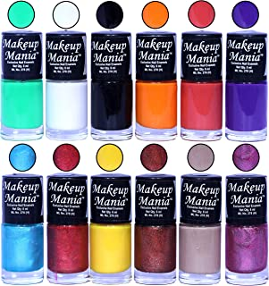 Makeup Mania HD Color Attractive Nail Polish Set of 12 Pcs in Unique Combo of Multicolor Nail Paints (MM-126), 400 g