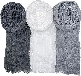 Sponsored Ad - WANBAO Scarf Shawl for All Seasons Women Wrap Shawls Stylish Scarf 3Pcs.