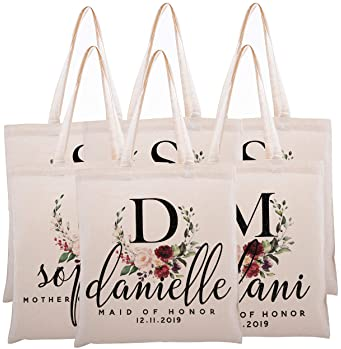 Jackie Ladies Personalised Shopping Bag Tote can amend to ANY NAME Shopper