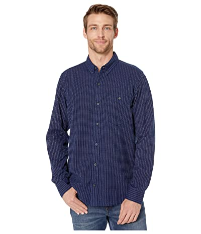 Toad&Co Mattock II Long Sleeve Shirt (Dark Indigo Vertical Stripe) Men