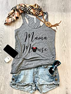Mama Mouse. Women's Eco Tri-Blend Tanks. Women Clothing. Disney Tank Top. Disney Gift Triblend Tank. Gift Shirt. Happy Shirt.