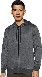 WOKNIT Men's Hooded Zipper Full Sleeve Dark Grey Sweatshirt