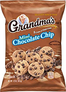 Grandma's Mini Whole Grain Chocolate Chip Cookies, 1.22 Ounce (Pack of 80)