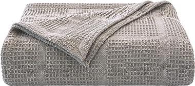 Kenneth Cole New York Kcny Essentials-Grey Twin Cotton Blanket