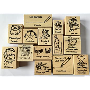 bjduck99 8Pcs//Set Teacher Reviews Encouraging Words Stamps DIY Scrapbooking Craft Tool