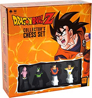 Dragon Ball Z Collector's Chess Set   Custom Sculpted Chess Pieces DBZ Heroes & Villains   Goku & Buu as Kings   Vegeta & Cell as Queens   Officially Licensed Dragon Ball Z Chess Set