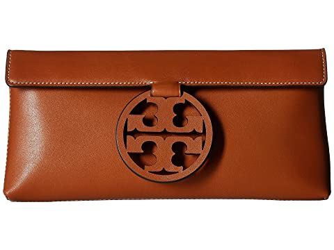 Tory Burch Miller Clutch Aged Camello Clearance Largest Supplier 6HQRsIh17