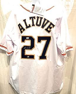 Jose Altuve Houston Astros Signed Autograph White Custom Jersey GTSM JSA Certified