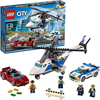LEGO City Police High-Speed Chase 60138 Building Toy with Cop Car, Police Helicopter, and Getaway Sports Car (294 Pieces)