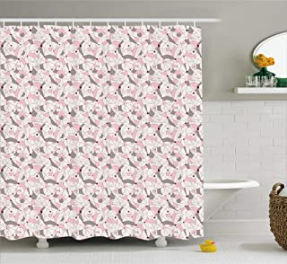 Kenneth Camilla Modernist Geometric Shower Curtain, Bathroom Curtains Bathroom Decor Accessories with Hooks,36 x 72 Inches