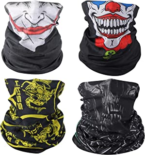3D Face Sun Mask Neck Gaiter Headwear Magic Scarf Balaclava Bandana Headband