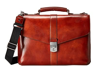 Bosca Flapover Brief (Amber) Briefcase Bags
