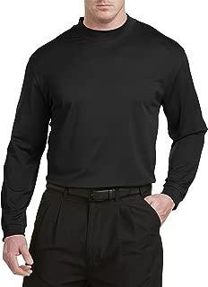 Big and Tall Golf Long Sleeve Play Dry Mockneck T-Shirt
