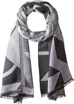 Geo Logo Blanket Scarf