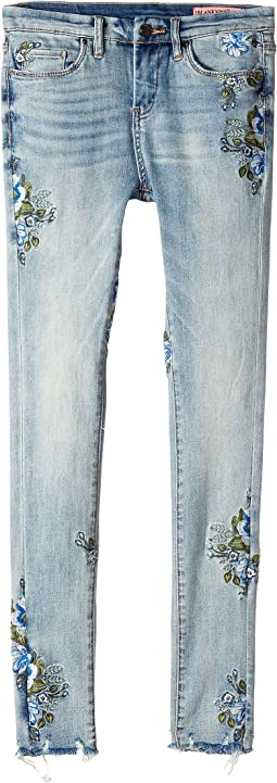 Blank NYC Kids - Embroidered Denim Skinny in Back To Nature (Big Kids)