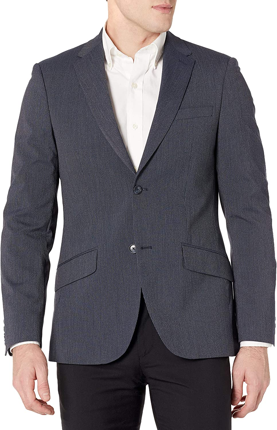 Now free shipping Perry Ellis Kansas City Mall Men's Slim Fit Machine Washable Suit Striped Jacket