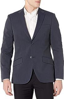 Perry Ellis Men's Slim Fit Machine Washable Striped Suit Jacket, Dark Sapphire, X Large/44 Regular