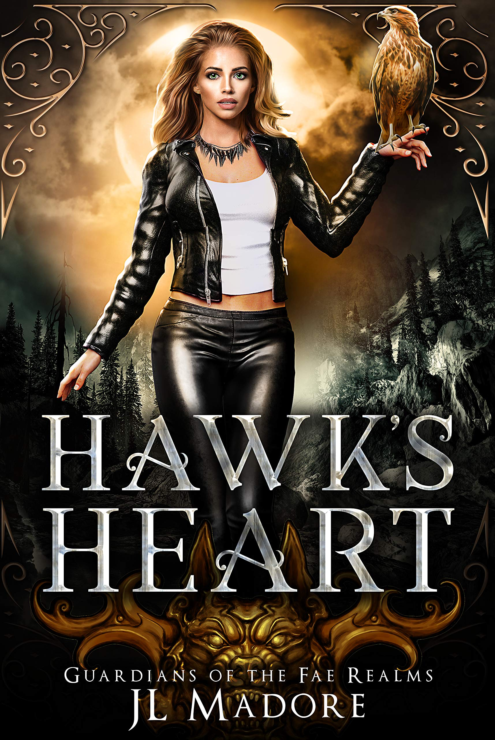 Hawk's Heart: A Shifter Romance (Guardians of the Fae Realms Book 4)