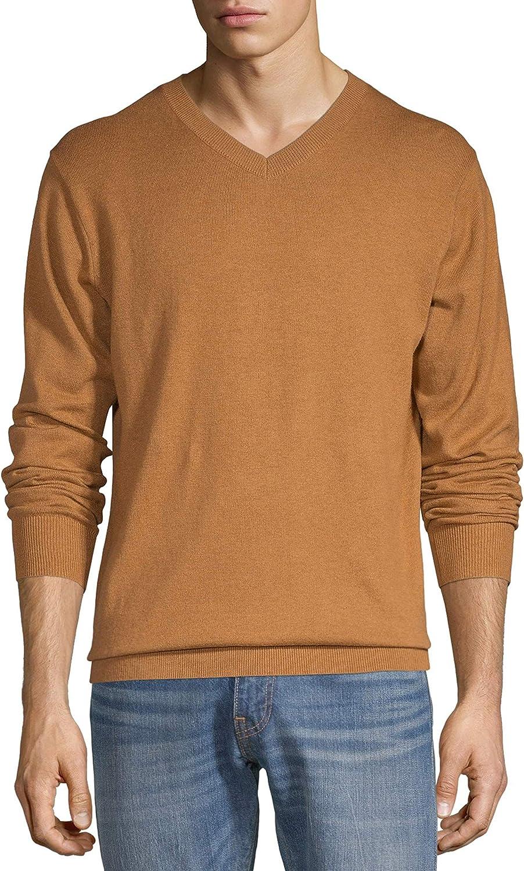 George Men's V-Neck Sweater Trailblazer Brown Healther Size 2XL
