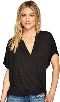 Michael Stars Brooklyn Jersey Cross Over V-Neck Top