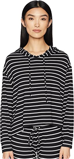 Lounge Stripes - The High-Low Hoodie