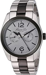 Kenneth Cole Men's Quartz Watch, Analog Display and Stainless Steel Strap KC9365