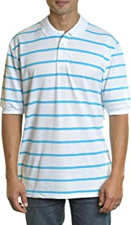 YAGO Men's Casual Short Sleeve Cotton Blend Pique Polo Shirt S-5XL