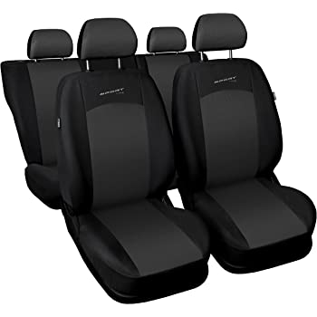 Schwarze Sitzbezüge für OPEL MERIVA Autositzbezug VORNE