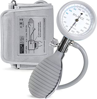 Sphygmomanometer Blood Pressure Monitor Cuff by Balance, Manual BPM, Large Adult Cuff Size with