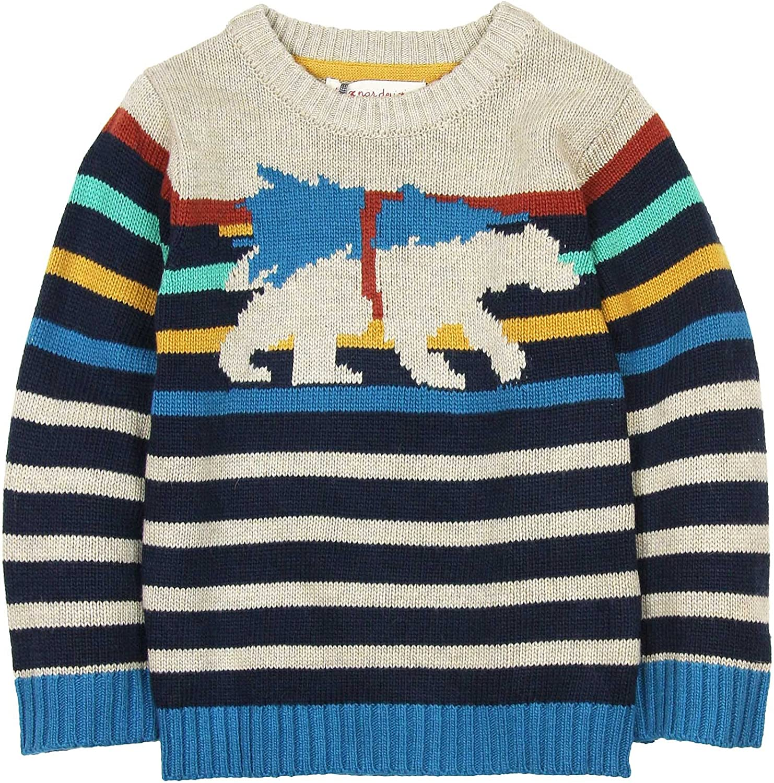 Deux par Deux Boys' Striped Sweater Whistle Punk, Sizes 18M-6