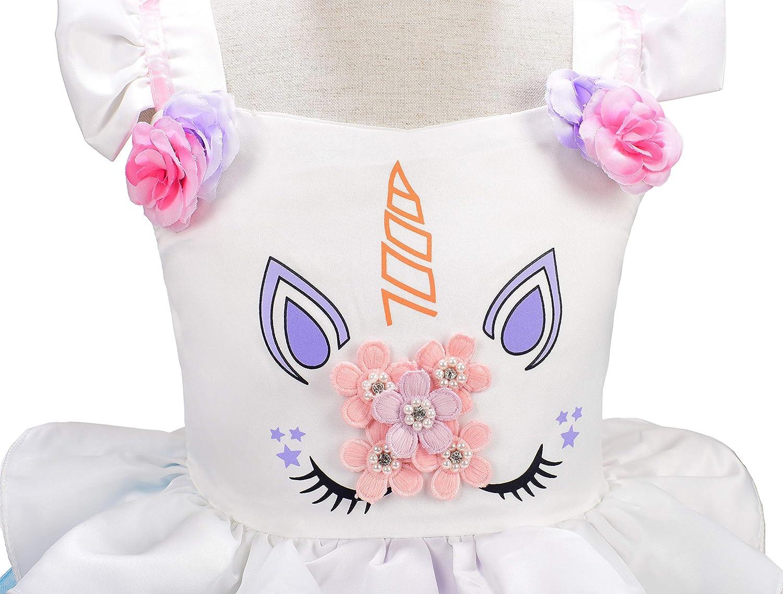 Dressy Daisy Girls Unicorn Costume Princess Birthday Party Dress Up