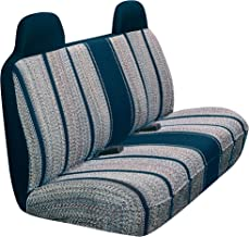 Saddleman A 02275-03 Universal Front Large Bench Seat Cover with Headrests-Saddle Blanket Fabric (Blue)