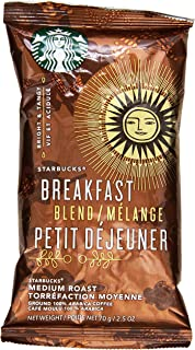 Starbucks SBK11018193 Breakfast Blend Single-Pot Portions Coffee Packets, Premium Ground, Medium-Roasted (Pack of 18)