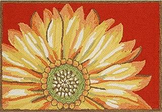 Liora Manne Frontporch Front Porch Kitchen Sunflower Red Indoor/Outdoor Rug, 2'6