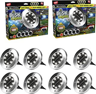 Bell and Howell 2800 Solar Disk Lights, Brushed Steel