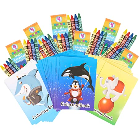 Coloring Books 36 Piece Farm Animal Party Favor Set Crayons and Stickers