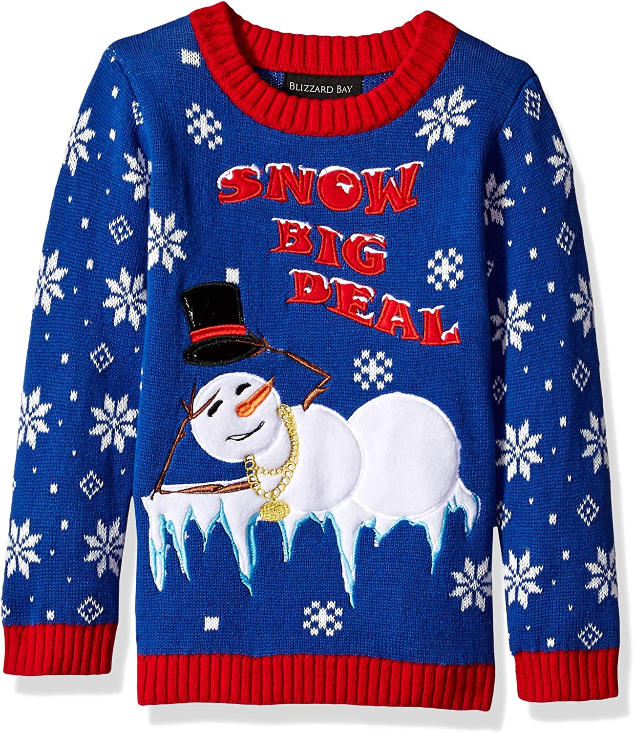 Blizzard Bay Boys' Snowman with Hat Xmas Sweater