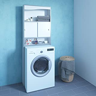 TemaHome WC-Machine à Laver-Blanc-Chants Gris/6091A7321M17